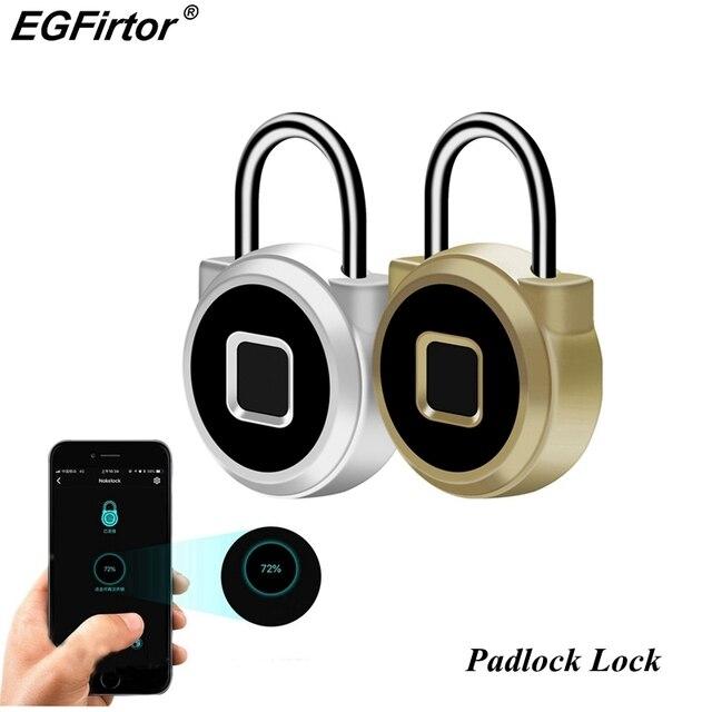 Smart Fingerprint Lock Vorhängeschloss Keyless Tragbare USB Aufladbare Anti Diebstahl Vorhängeschloss Elektronische Nicht passwort Finger Touch Lock