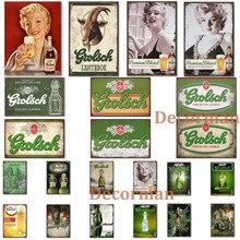 [Mike86] netherland cerveja sinal de metal cartazes de parede grolsch vinho pintura presente arte decoração pub LTA-2003 20*30 cm