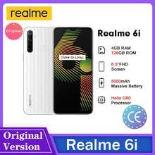 Realme 6i inteligentny telefon 4GB 128GB 5000mAh 18W szybkie ładowanie wyświetlacz HD 6.5 Cal 48MP wysokiej rozdzielczości aparat fotograficzny
