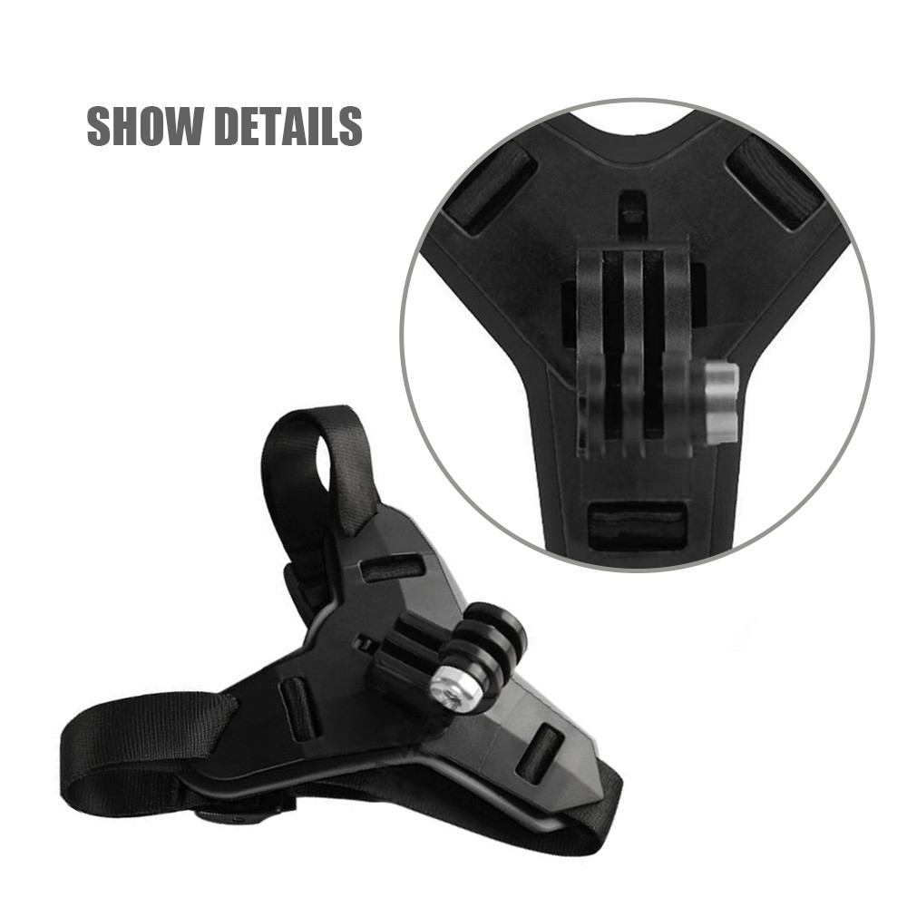Black Suitable for Gopro Helmet Holder Motorcycle Helmet Chin Stand Mount HolderAction Sports Camera Holder Accessory