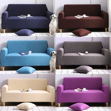 Solid Universal Slipcovers Stretch Elastic Sofa Cover Sectional Case for Furniture Living Room Couch Cover L shape Armchair Home