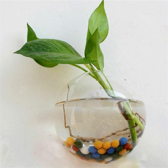 New Garden Supplies Home Hanging Glass Ball Vase Flower Planter Pots Terrarium Container Home Garden Decoration 3 Size 2