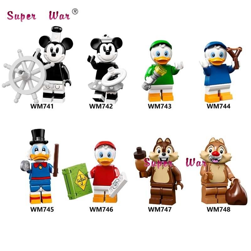 Single Mickey Duck Animal Louie Huey Chip Minnie Toy Story 4 Buzz Lightyear Cartoon Anna Lula Lucy Candy Rapper Building Blocks