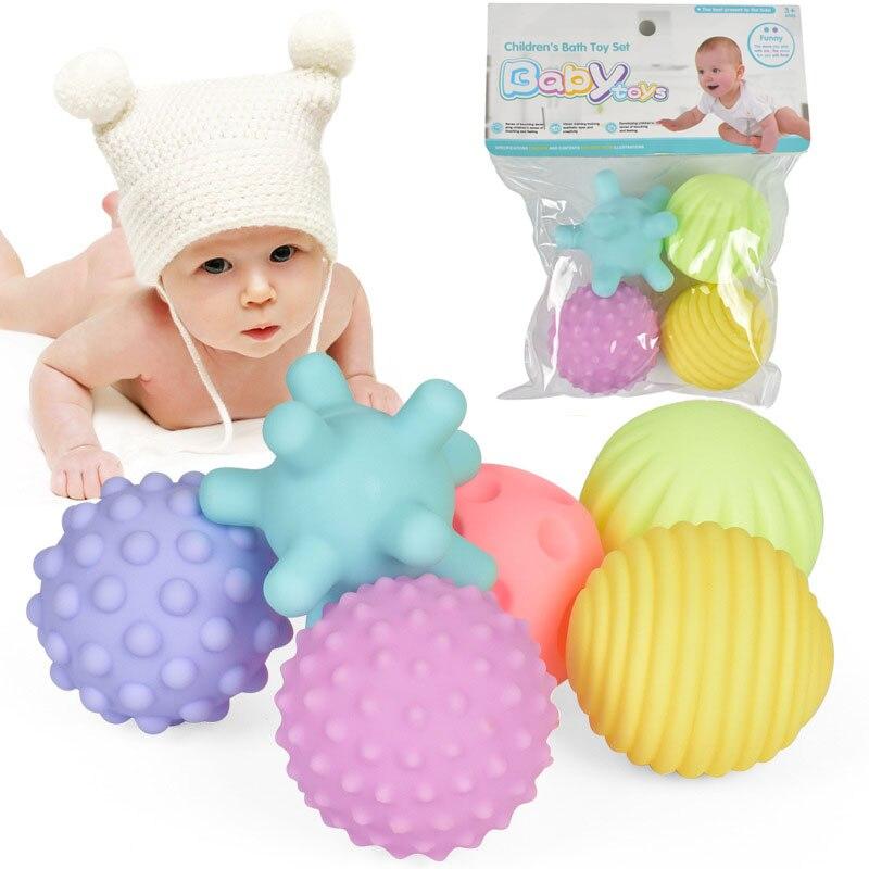 Jouets pour bébés, boule à main Tactile, entraînement des nourrissons, Massage, texture en caoutchouc souple, multi-sensorielle, jouet de bain à main