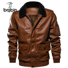 Hot Sale Winter Jackets Men Casual Outwear Bomber Jacket Windbreaker Pu Motorcycle Leather Jackets Male Retro Fur Coats Clothes(China)