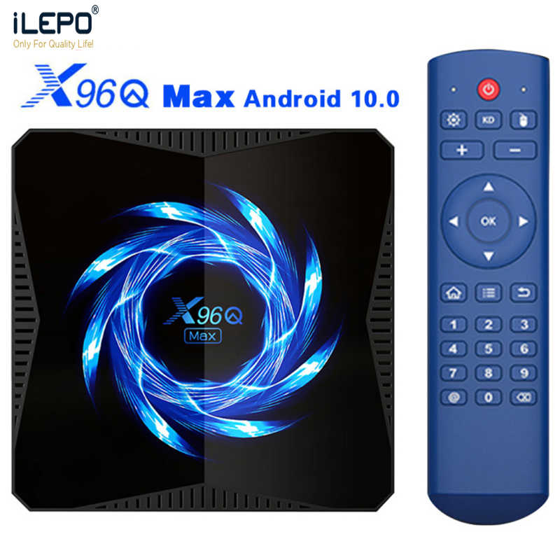 ILEPO X96Q MAX Smart TV Box Android 10.0 32GB 64GB 4K 60fps 2.4G / 5G Wifi BT5.0 4K HDR zestaw odtwarzacza multimedialnego Top Box