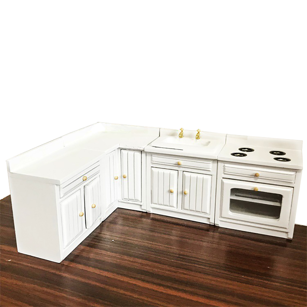 1/12 Dollhouse Miniature Accessories Mini Wooden Cupboard Simulation Cupboard Furniture Sideboard Model Toy For Doll House Decor