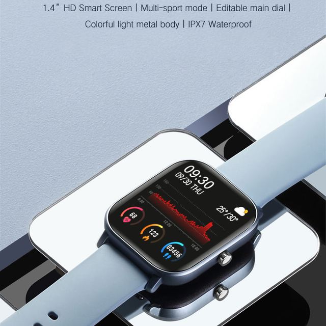 SENBONO P8 2020 GTS Women Men Smart Watch IP67 Waterproof fitness tracker Heart Rate Blood Pressure Monitor Smartwatch