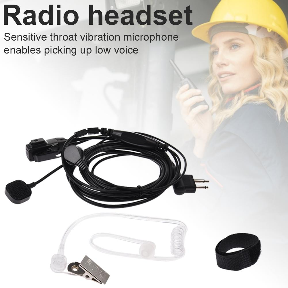 Walkie Talkie Acoustic Headset Earpiece Mic Earphone Vibration Air Duct Radio Headset For UV5R For Kenwood KPG Earphone