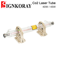 SignKoray 40 Вт 45 Вт Co2 Стекло лазерная трубка Dia.50 или 80 мм Длина 700 мм Стекло Лазерная лампа для CO2 Лазерная гравировальная и режущая машина