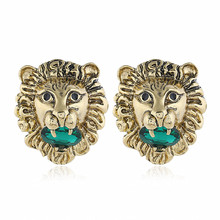 Gold Color Stud Earrings For Women Round Animal Pendant Bohemian Christmas Gifts