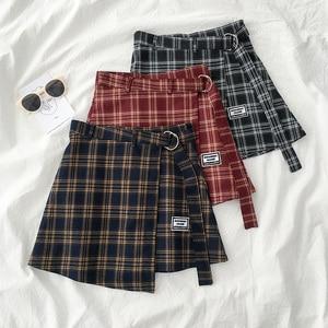 3 cores S-L 2019 outono e inverno Shorts Mulheres Saias de Cintura Alta Coreano A-line Shorts meninas da manta shorts G926 irregualr
