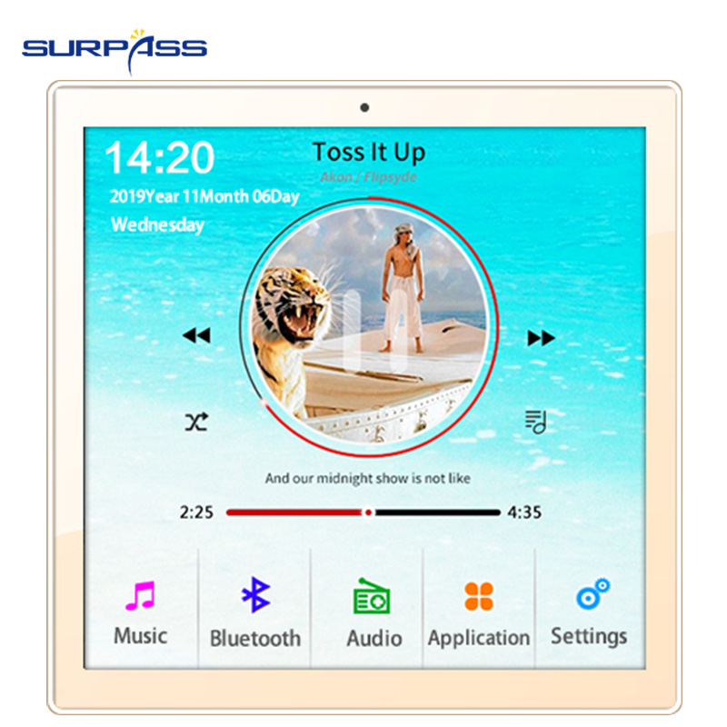 Home New Mini WiFi Bluetooth Touch Screen In Wall Audio Music Center Sound Amplifier tv tablet Smart Digital Stereo fm Amplifier 5