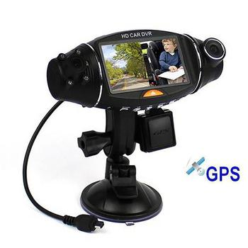 High-Definition Driving Recorder Dual Lens 140-Degree Wide-Angle Night Vision Gravity Sensor Gps Camera For Car