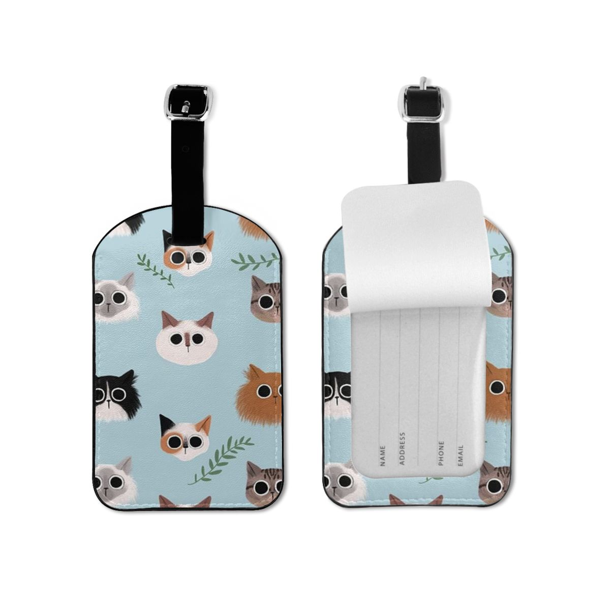 NOISYDESIGNS Animals Cat Funny Printed Luggage Tag Travel Accessories For Women Men Creative Suitcase Luggage Tag New