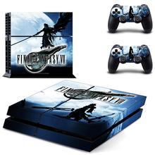 Final Fantasy VII PS4 çıkartmalar PlayStation 4 cilt Sticker çıkartmaları tam kapak PlayStation 4 için PS4 konsolu ve denetleyici cilt