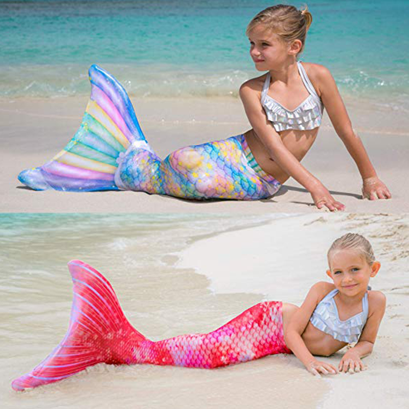 Women Mermaid Tails For Swimming Adults Child Girls Party Cosplay Mermaid Swimwear Tails Ariel Swimsuit No Monofin C28105CH