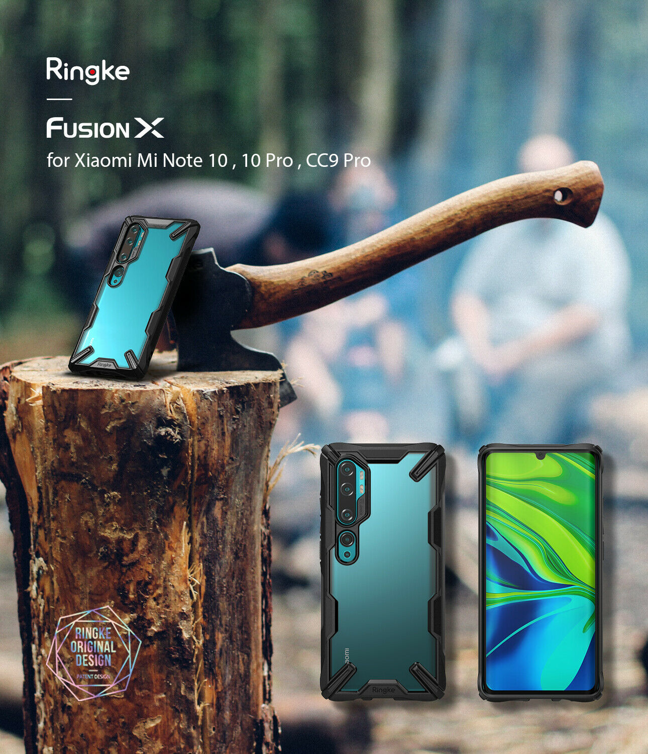 Ringke Fusion-X for Xiaomi CC9 Pro Case Transparent Hard PC Back Soft TPU Frame for Mi Note 10/Note 10 Pro Back Cover