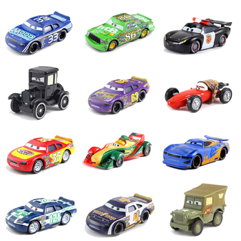 Disney Pixar Cars 2 3 Lightning McQueen Mater Jackson Storm Ramirez 1:55 Diecast Vehicle Blue No.33 New No.86 Toys Car Kid Gifts image