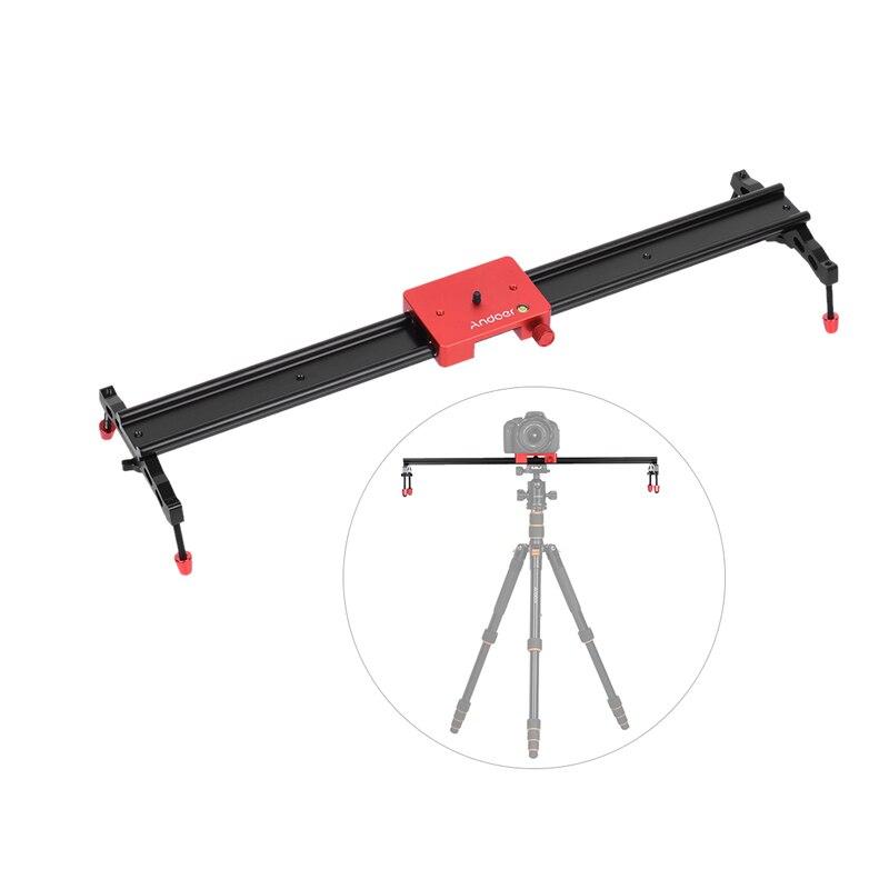"""Andoer 60 cm/23,6 """"videocámara Track Slider Dolly Rail estabilizador de aleación de aluminio para cámara Canon Nikon Sony DSLR"""