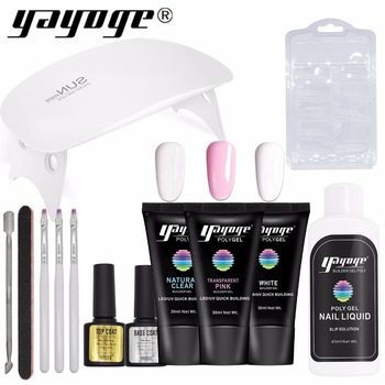 Yayoge Poly Gel Set Gel Polish Poly Nail Extension Gel Kit Gel Polish From US Shipping 2-7 days Fast Arrive for Nail Art