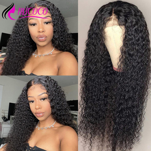 Mscoco Hair Curly Lace Front Wig 4x4 6x6 Closure Wig 13x6 Lace Front Human Hair Wig Remy Brazilian Curly Human Hair Wig(China)