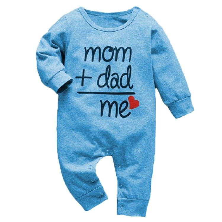 2021 nowych chłopcy, dziewczynki, śpioszki bawełny z długim rękawem list kombinezon odzież dla niemowląt jesień noworodka ubrania wokół szyi sportowej