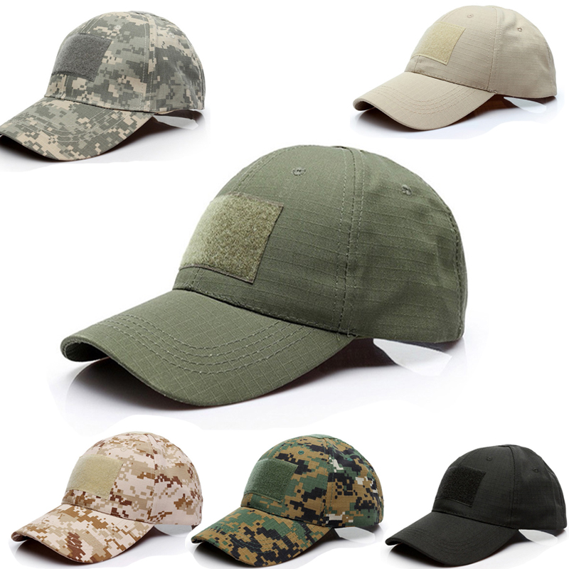 Tactical Summer Sunscreen Hat Camouflage Military Army Camo Airsoft Hunting Camping Hiking Fishing Caps Adjustable Baseball Cap