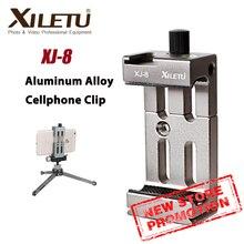 Xiletu XJ 8 Multifunctionele Gsm Houder Clip Statief Voor Telefoon Zaklamp Microfoon Met Waterpas En Koude Schoen Mount