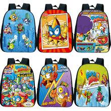 Dzieci Super Zings 3D plecak z nadrukiem dzieci Cartoon plecak Superzings przedszkole Bookbag torby przedszkolne12 cali gorąca sprzedaż tanie tanio NYLON CN (pochodzenie) Tłoczenie Unisex Miękka Poniżej 20 litr Wnętrza przedziału Miękki uchwyt NONE zipper Łukowaty pasek na ramię
