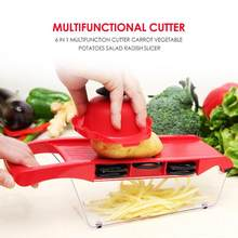 6 In 1 Multifunction Cutter Environmental Potatoes Salad Radish Slice Peel Wide Scope of Application Kitchen Accessories(China)
