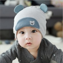 Cute Baby Boy Girl Autumn Winter Home Outdoor Hat Cotton Soft Warm Kid Lovely Bear