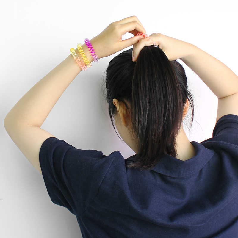 1cm de diámetro 5 unids/bolsa de moda para mujeres y niños bonitos lazos para el cabello elásticos bandas para pelo para mujer sombreros de cuerda llavero