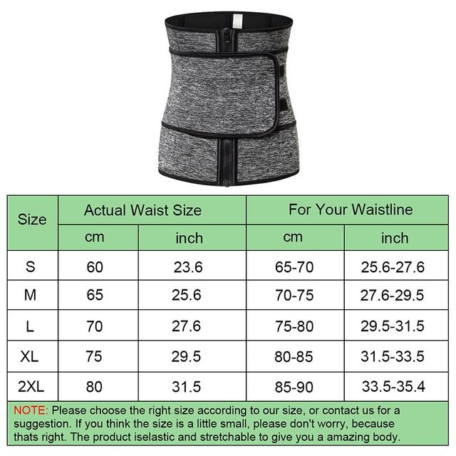 NEW Neoprene Sauna Waist Trainer Corset Sweat Belt for Women Weight Loss Compression Trimmer Workout Fitness 1