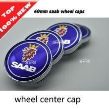 20 sztuk 60mm czapki 56mm koło samochodowe logo godło naklejki koła odporne na kurz emblemat obejmuje dla saab koła osłona środkowa car styling