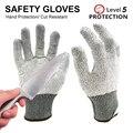 1 упаковка стойких к порезу перчаток с уровнем 5 защитные рабочие перчатки с прочным нейлоном и стекловолокном подходит