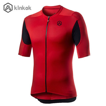 Jersey de ciclismo para hombre de manga corta elástico con 3 bolsillos traseros cremallera reflectante camiseta de bicicleta MTB muy transpirable de secado rápido