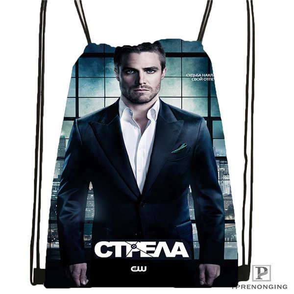 Custom Arrow-New-  Drawstring Backpack Bag Cute Daypack Kids Satchel (Black Back) 31x40cm#20180611-02-88