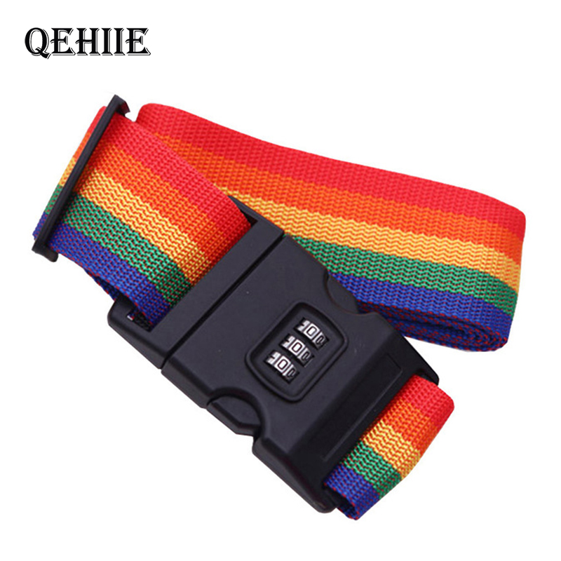 Bags Accessories Luggage Strap Adjustable Password Lock Packing Belt Baggage Secure Lock Anti-theft Luggage Strap Bundling Belt