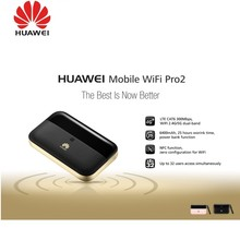 Купить с кэшбэком Unlock HUAWEI E5885Ls-93a cat6 mobile WIFI PRO2 with 6400mah Power Bank Battery and One RJ45 LAN Ethernet Port E5885 Router