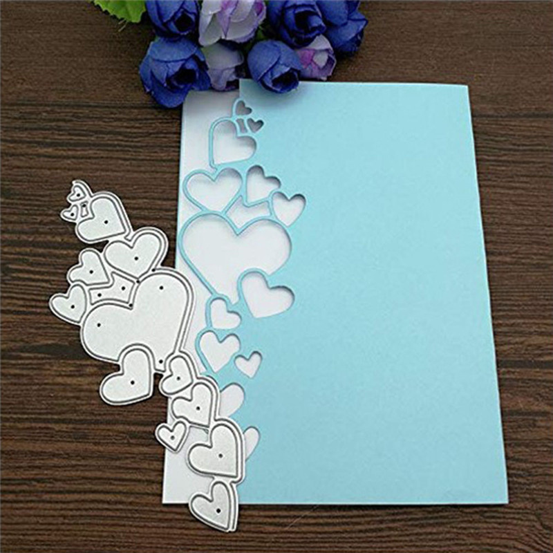 Heart Lace Edge Frame Metal Cutting Dies Stencils For DIY Scrapbooking Decorative Embossing Handcraft Die Cutting Template