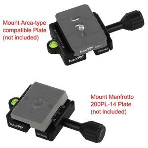 Image 5 - Haoge Combo patron adaptörü Arca ve Manfrotto uyumlu hızlı serbest bırakma kelepçesi Manfrotto Tripod döngüsü kafa kelepçe değiştirme