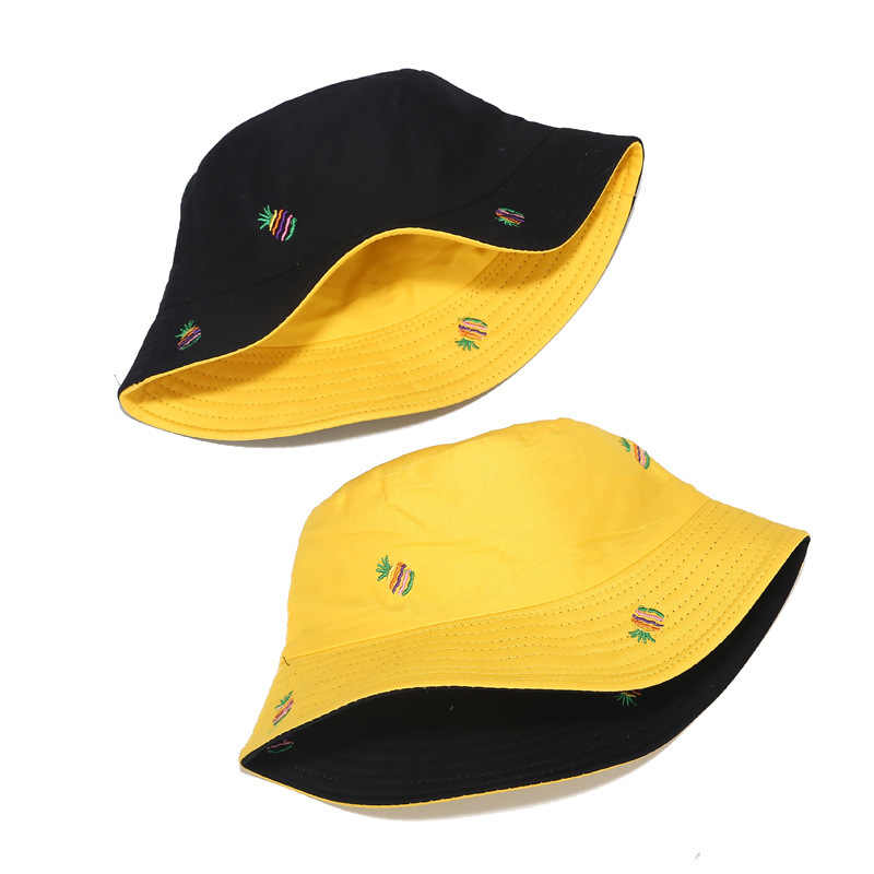 Bucket Hat Fold Two-sided Duck Bob Hip-hop Caps Casual Summer Panama Beach Hats