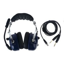 Air RA200 Aviation Pilot Headset with Plugs Stereo MP3 Music Noise Reduction Includes Headset Bag Gel Ear Seals Cloth Ear Covers
