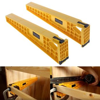 цена на 2pcs Drawer Track Installation Jig Auxiliary Positioning Holder Drawer Slide Jig Mounting Cabinet Hardware Woodworking Tools
