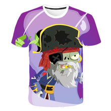 New Summer Children T-shirt Cartoon Plants Vs Zombies Wars Tshirt Fashion Casual Harajuku Boys T shirt Girls Cute Tee Kids Tops children s clothes plants vs zombies wars t shirt boys t shirt kids cartoon tshirt baby girls boys clothing summer cool tops tee