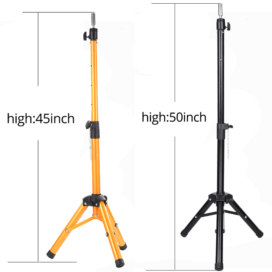 Ultimate SaleAlileader Adjustable Wig Stand Wig Tripod With Canvas Head Training Mannequin Head Wig Head Wig Making Kit Wig Tripod Stand