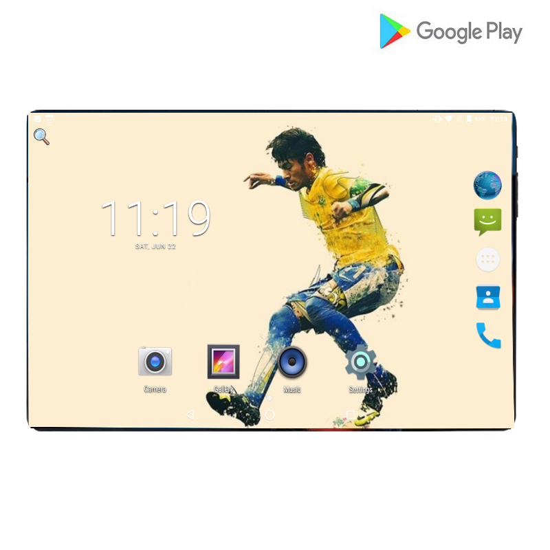 2019 nouveau Design 10 pouces tab 4G tablette Android 9.0 tablette pc 1280*800 IPS 6000mAh grande batterie GPS wifi tablettes 6GB RAM 64GB ROM