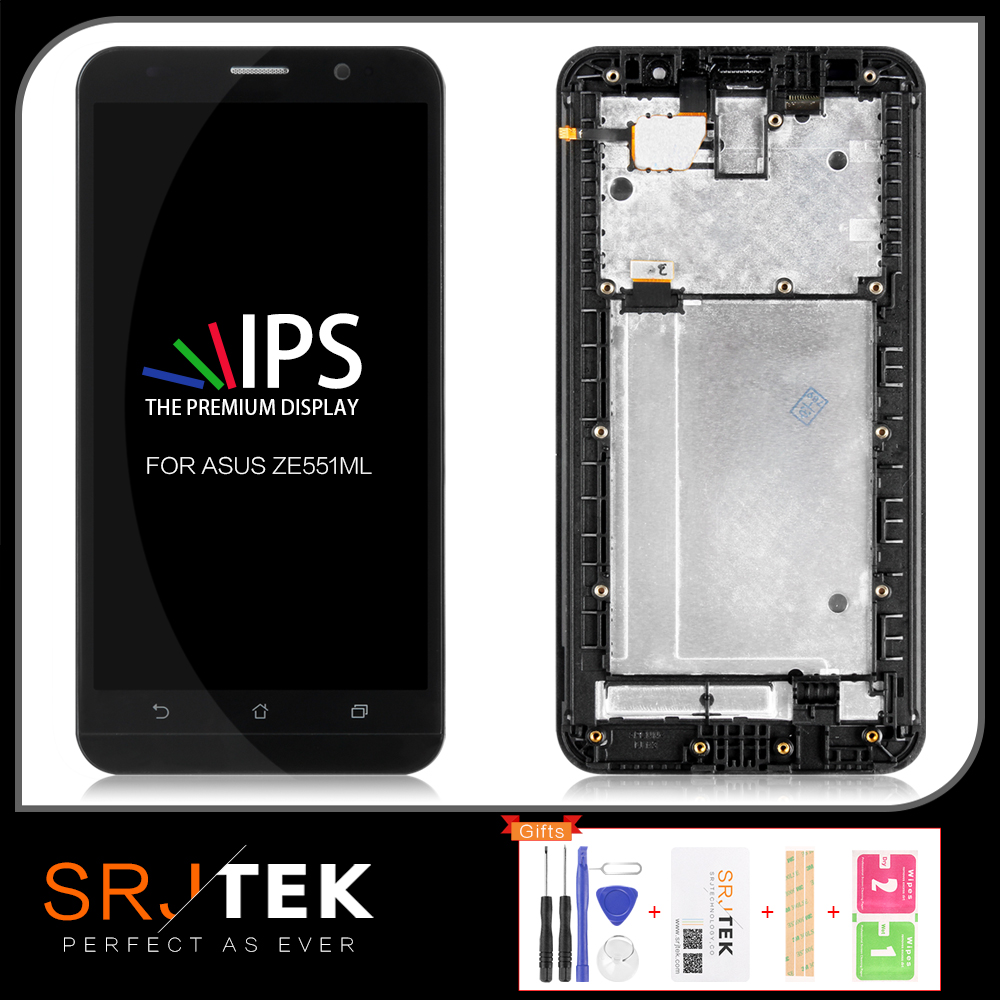 ORIGINAL 5.5'' LCD For ASUS Zenfone 2 ZE551ML Z00AD Display LCD Touch Screen Digitizer ZE551ML LCD Assembly Replacement Parts