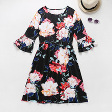 Mommy&Me Long Sleeve Floral Dresses